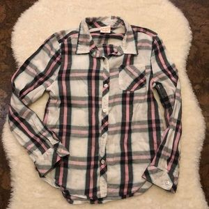 Jumping Beans Size 7 Plaid button down